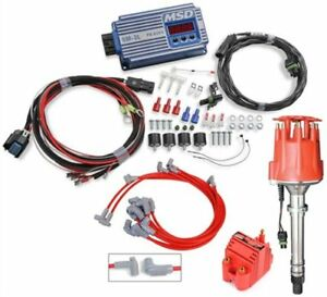 Msd Ignition 6564k 6m 3l Marine Ignition Control Kit Small Block Chevy Blue Incl