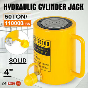 50t 4 Stroke Single Acting Hydraulic Cylinder Solid Heavy Equipment Bending