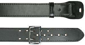 Plain Leather 2 Row Stitched 2 1 4 Duty Belt