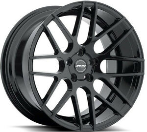 19 Ground Force Gf7 Concave Staggered Wheels Rims Set For Infiniti G35 Coupe