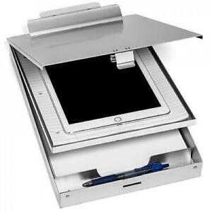 Aluminum Clipboard Case Folder With Double Storage Contractor Nurse Coach Work
