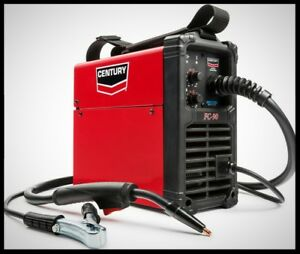 Century 90 Amp Welder 120v Portable Flux Core Wire Feed Welding Machine Inverter