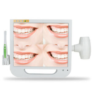 Dental 17 Lcd Screen Monitor Intra Oral Camera System Storing Pictures 6000pcs