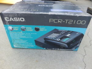 Casio Pcr T2100 Cash Register Programmable W Keys Box Manual Works Great