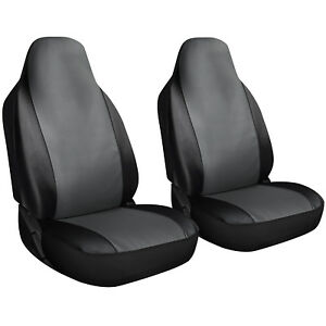 Seat Cover Set Front Integrated Bucket For Car Truck Suv 2pc Gray