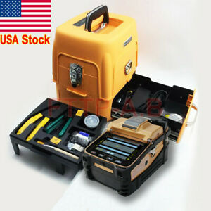 Ftth Fiber Fusion Splicer Kit Ai 8 Fiber Optic Splicing Machine fiber Cleaver