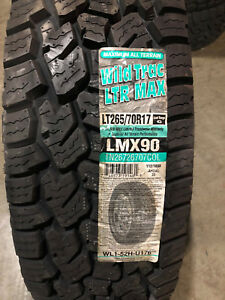 4 New Lt 265 70 17 Wild Trac All Terrain 6 Ply Load Range C Tires