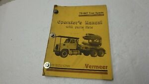 Vermeer Ts 84t Tree Spade Operator Parts List Manual Ci24