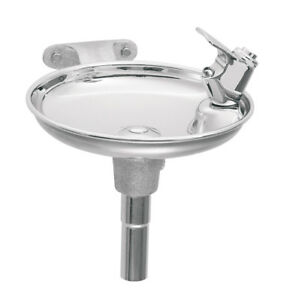 Haws 1152 Single Bubbler Wall Mounted Drinking Fountain With Round Stainless S