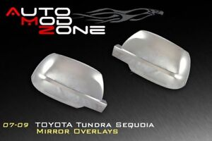 07 19 Toyota Tundra Chrome Full Side View Mirror Covers Cover Set