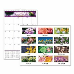 At a glance Floral Wall Calendar 15 1 2 X 22 3 4 Floral 2019