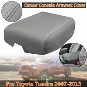 Pu Leather Center Console Lid Armrest Cap Grey For Toyota Tundra 2007 2013 New