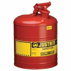Justrite Type I Safety Fuel Can 5 gal Red 7150100