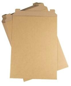 Stay Flat Rigid Kraft Cardboard Mailer W 28 Pt Brown Choose Your Sizes