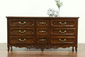 Country French Vintage Oak Chest Or Dresser Signed Hickory 28615
