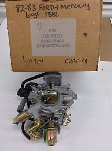 Nos Holley 1946 Carburetor List 9771 1982 1983 Ford Mercury Cars 200 Engine