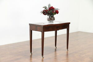 Hall Console Opens To Vintage Game Or Dining Table 3 Leaves Paine 30170