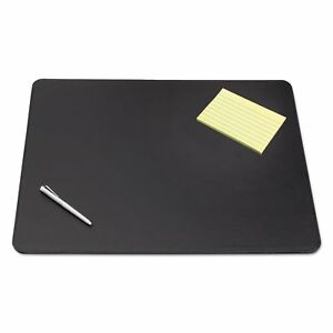 Artistic Sagamore Desk Pad With Decorative Stitching 36 X 20 Black