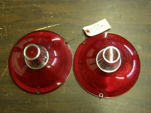 Nos Ford 1961 Galaxie 500 Tail Light Lamp Lenses Pair W O Backup Lamps