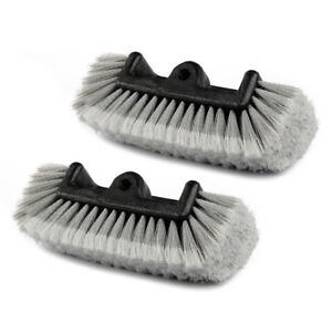 2 Pcs Automotive Car Truck Boat Rv 12 Heavy duty Tri angle Wash Brush Head Gray