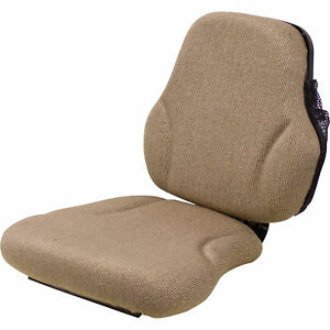 K M Replacement Seat For John Deere Tractors Brown Model 8249