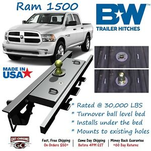 Gnrk1309 B W Turnoverball Gooseneck Hitch Ball Dodge Ram 1500 2009 2018