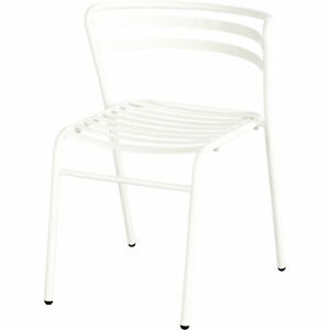 Mayline Safco Cogo Steel Outdoor indoor Stack Chairs 1 Pair White Model 4360wh