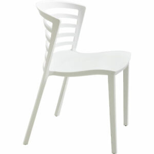 Mayline Safco Entourage Stack Chairs Set Of 4 White Model 4359wh
