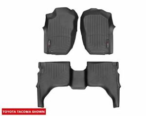 Weathertech Floorliner Mat For Toyota Tacoma Double Cab 2001 2004 Black