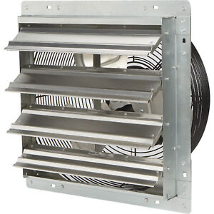 Strongway Enclosed Direct Drive Shutter Exhaust Fan 16in 3spd 2100 1910 1790cfm
