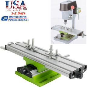 Milling Compound Worktable Cross Sliding Bench Drill Vise Fixture Diy Usa Ship