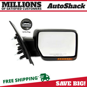Power Heated Folding Signal Textured Right Side Mirror Fits 2009 2011 Ford F 150