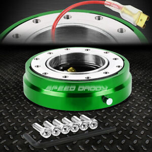 6 Hole Steering Wheel 1 Click Push Pin Short Quick Release Hub Adapter Kit Green