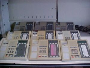 Lot Of 9 Comdial Impact 8024s pt Display Telephones Missing Handsets