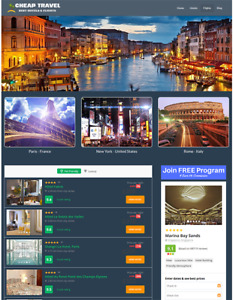 Automated Hotel And Flights Travel Website Business For Sale Easy To Manage