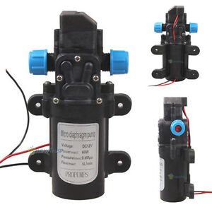 Dc 12v 60w Mini Micro Diaphragm High Pressure Water Pump Automatic Switch 5l min