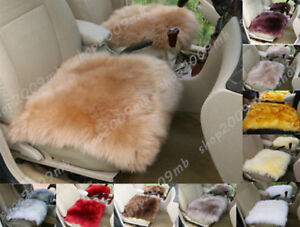 Wool Chair Cushion Fashion Soft Warm Car Seat Covers Genuine Winter Long Sheep