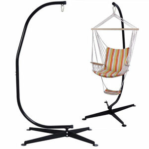 New Solid Steel C Hammock Frame Stand Construction Hammock Air Porch Swing Chair