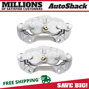 Front Disc Brake Caliper W Bracket Pair 2 For Chevy Impala Buick Lucerne 5 3l