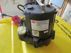 Teel 1 2 Hp Submersible Sump Pump Tether Switch Type Cast Iron Base 3p579m