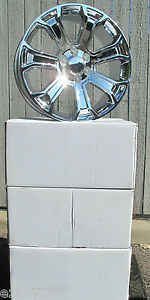 22 New Chevrolet Silverado Tahoe Suburban Factory Style Chrome Wheels Rims 5660