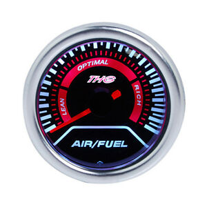 2 52mm Blue Led Car Auto Air Fuel Ratio Monitor Racing Gauge Afr Meter Pointer