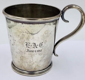 Lincoln Reed Coin Silver Yulep Cup Mug Antique