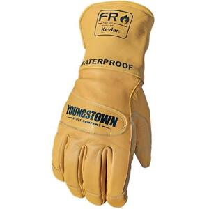 Youngstown Glove 11 3285 60 XL FR Waterproof Leather Utility Lined w Kevlar XL $59.85