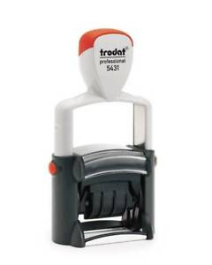 Trodat 5431 Professional Self inking Stamp package With 5 Stamps