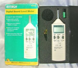 Extech 407736 Digital Sound Level Meter Type 2 Dual Range 1 5db Accuracy New
