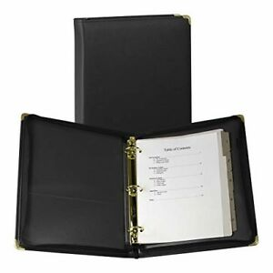 Samsill 15250 Classic Collection Executive Presentation 3 Ring Binder Zipper Cl