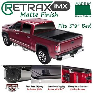 60461 Retraxone Mx Retractable Tonneau Cover Silverado Sierra 5 8 Bed 2014 2018