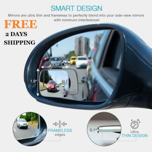 Car Blind Spot Safety Mirrors Waterproof 360 Degree Frameless Panoramic View 2p