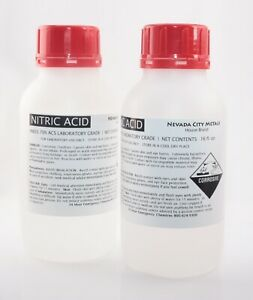 Nitric Acid 32 Oz 70 Concentrated Acs Lab Grade Best For Gold Silver Refining